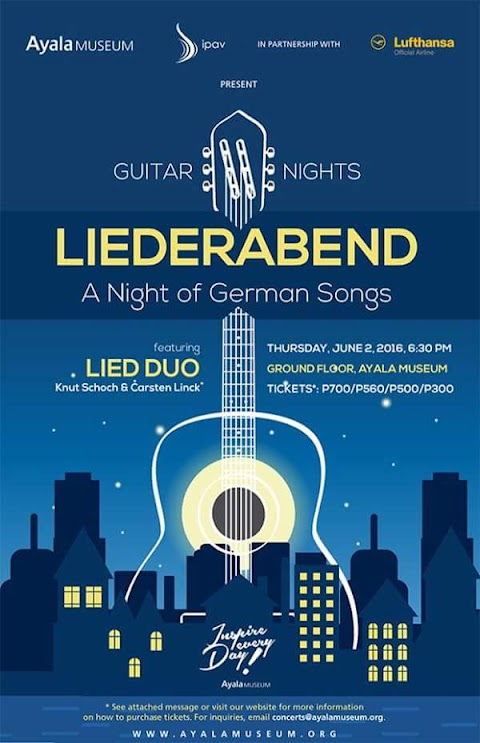 Liederabend: A Night of German Songs. LIED DUO at Ayala Museum