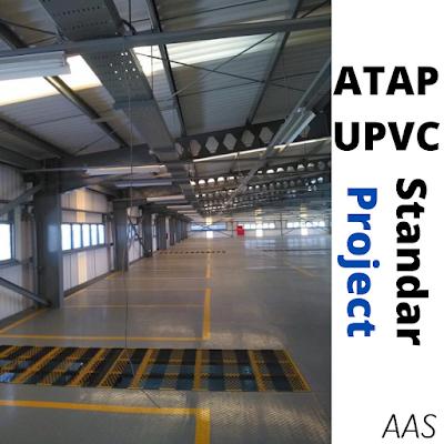 Atap UPVC Golden Roof Setara Alderon Rooftop untuk Pabrik Garmen Pabrik Sekolah Kandang