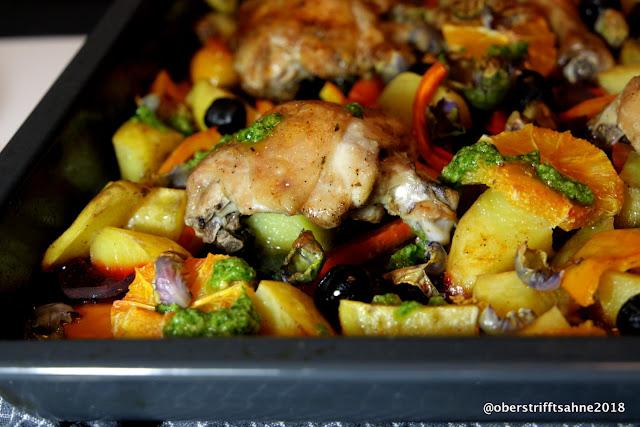 Bunte Hähnchenpfanne mit Gemüse