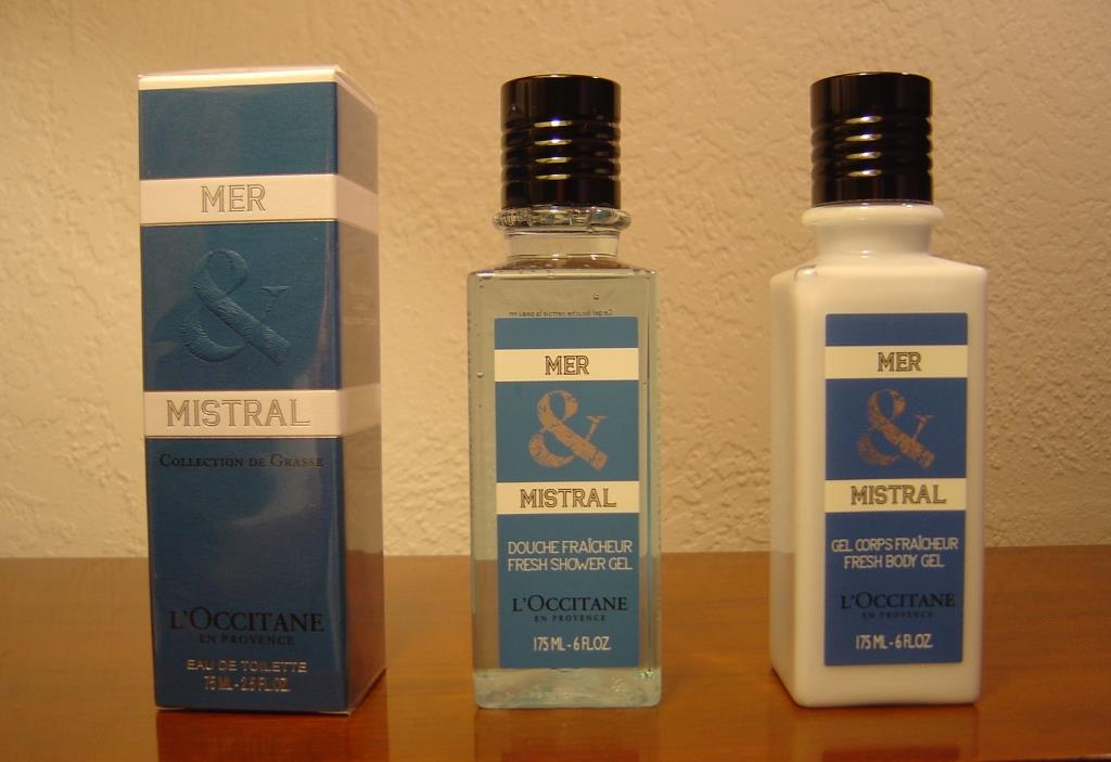 L'Occitane Mer & Mistral Collection trio of products