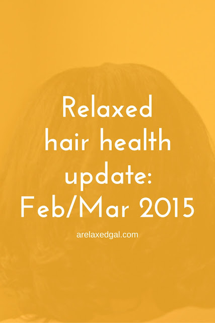 Watch my latest video to see how my relaxed hair has fared during February and March. | arelaxedgal.com