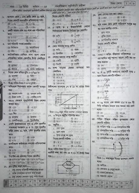 SSC Physics Model Question - 05