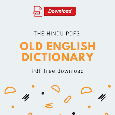 Old English Dictionary Pdf Free Download
