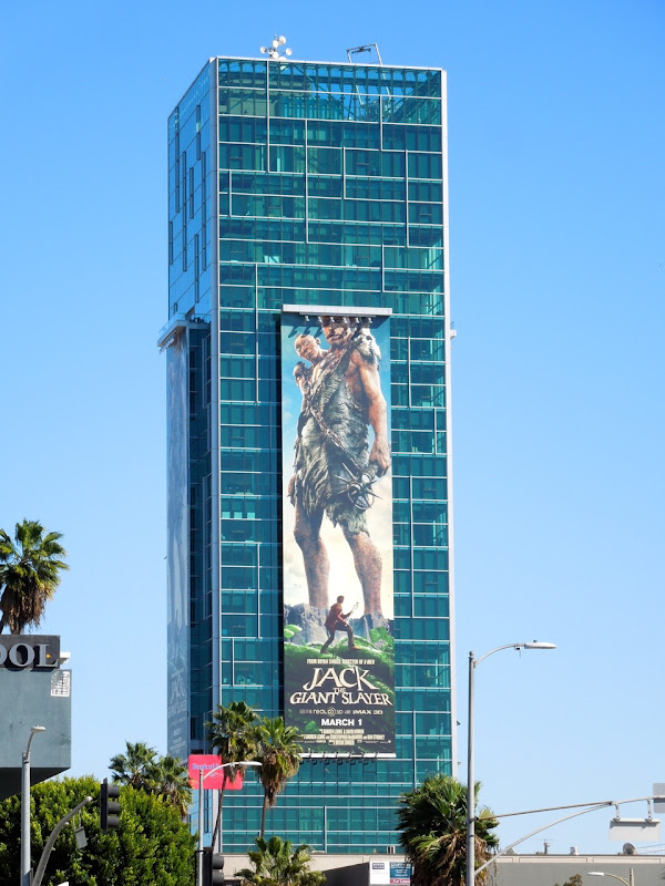 Supersized Jack Giant Slayer movie billboard