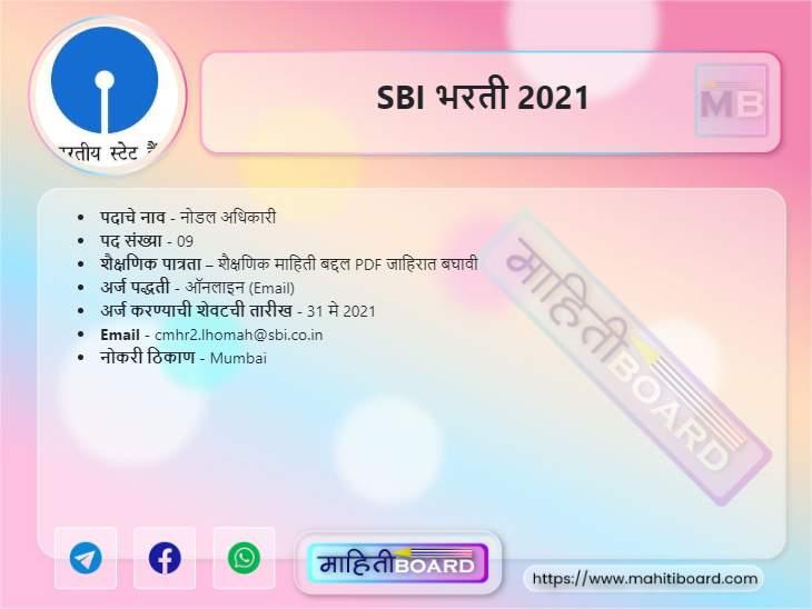 SBI Bharti 2021