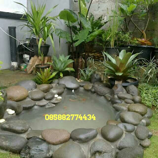 tukang taman pembuat kolam relif tebing cadas buatan bergaransi harga murah