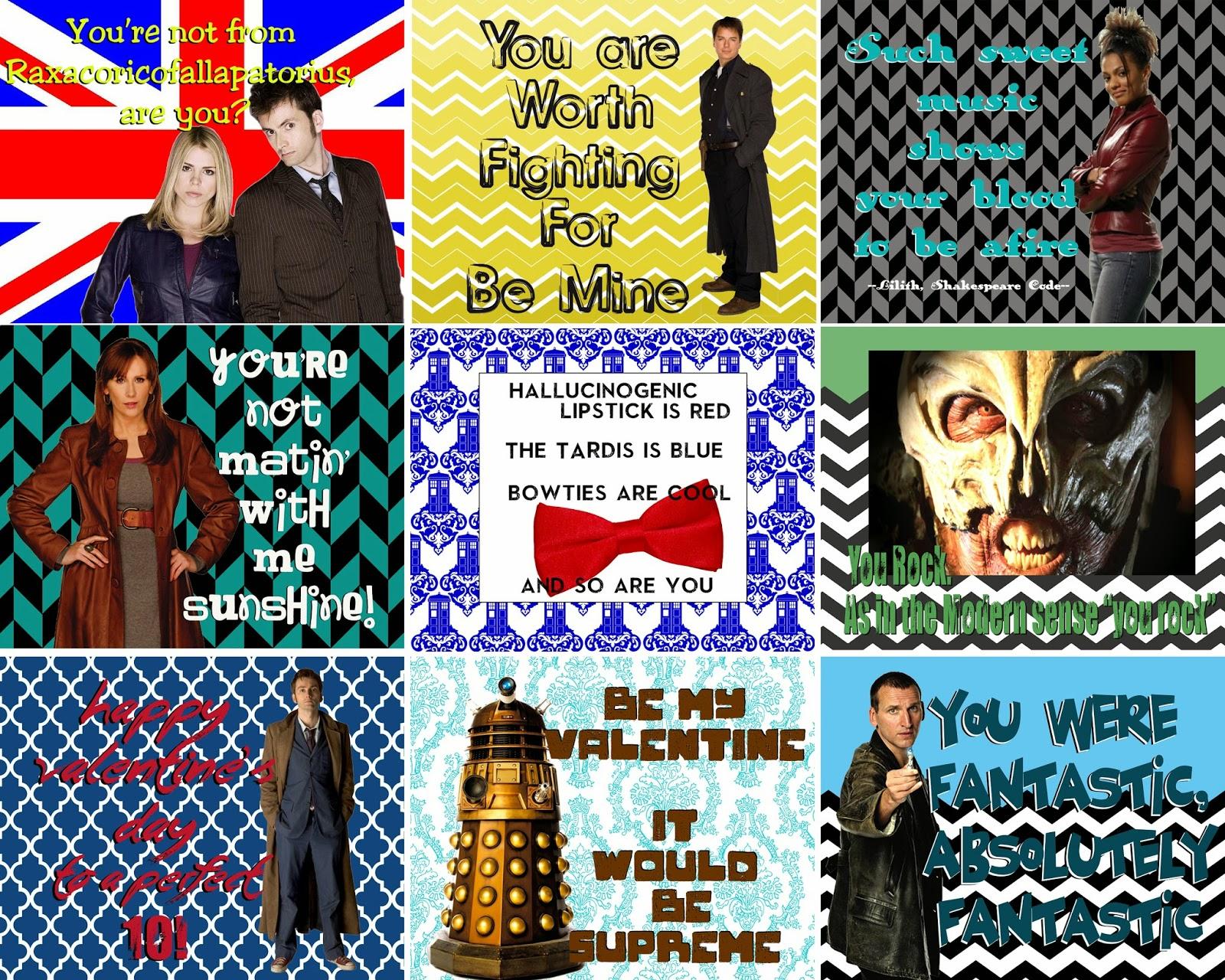 doodlecraft doctor who valentine printables