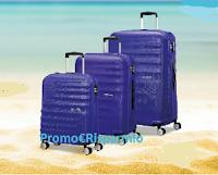 Logo Parti con Scholl e vinci 10 set di valige American Tourister