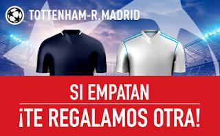 sportium promocion champions Tottenham vs Real Madrid 1 noviembre