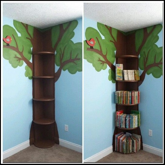 Diy Bookshelf Kids Corner Wall