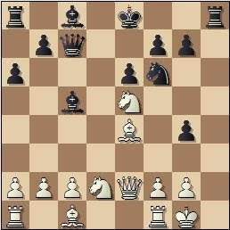 1951 - Partida de ajedrez Josep M. Bas - Joaquim Durâo, posición después de 14. Ce5?