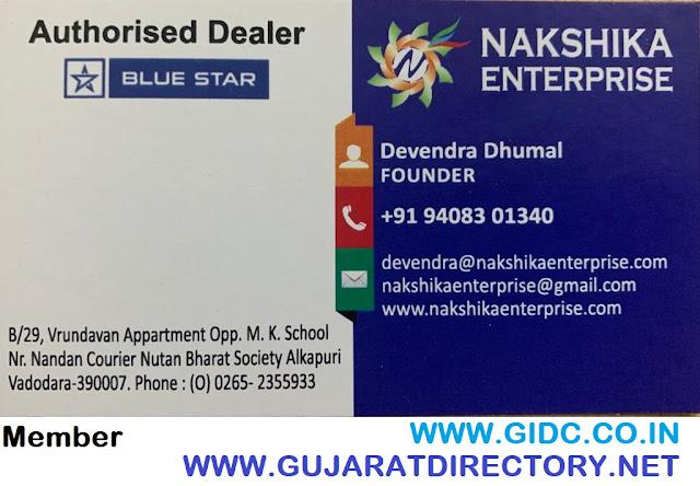 NAKSHIKA ENTERPRISE - 9408301340 BLUE STAR AC CHILLER DEALER VADODARA
