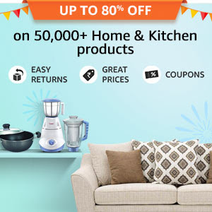 Up to 80% off on 50,000+ Home & Kitchen products