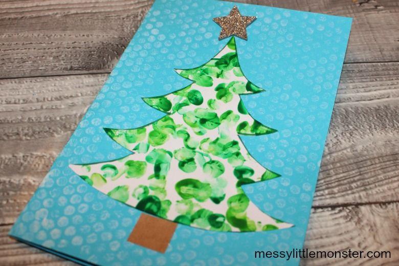fingerprint Christmas card for kids