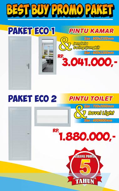 PROMO Paket Pintu & Jendela UPVC WEKA Plus