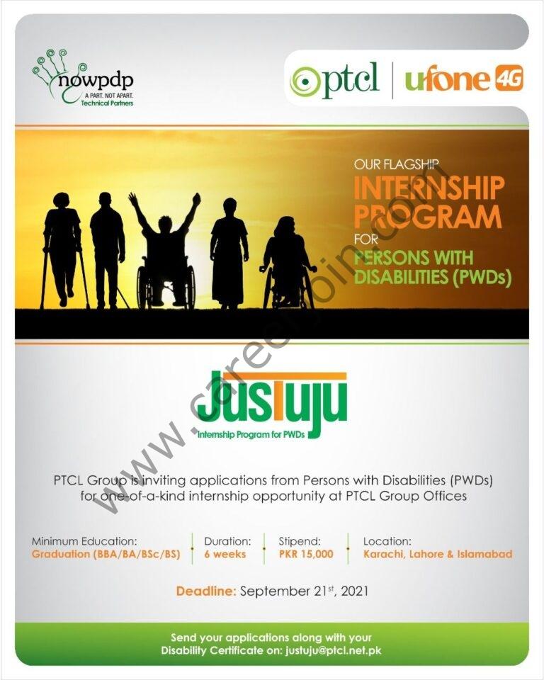 justuju@ptcl.net.pk - PTCL Ufone Internship Program Jobs 2021 in Pakistan