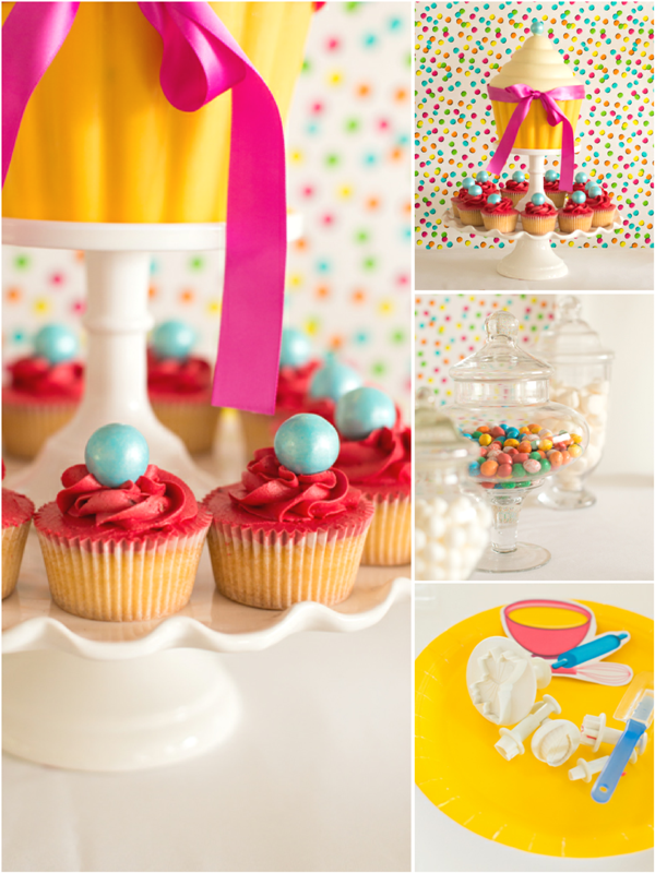 A Gluten Free Cupcake Baking Birthday Party - via BirdsParty.com