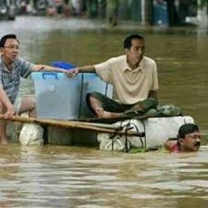 Gambar Dp Bbm Banjir jokowi ahok bowo