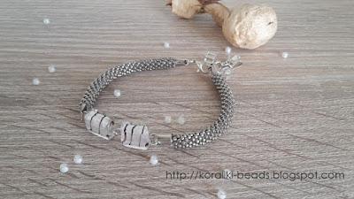 String bracelet bead crochet-glass Venetian