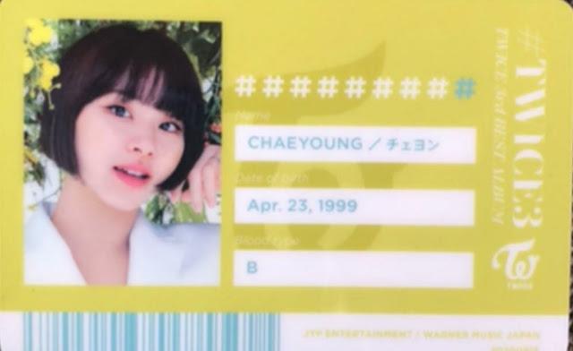 TWICE 3 Chaeyoung ID
