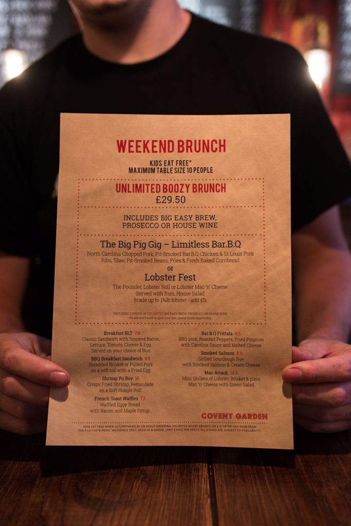 Big Easy Bottomless Brunch, Covent Garden