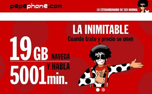 ¿Es la tarifa inimitable de Pepephone la mejor tarifa móvil y más barata?