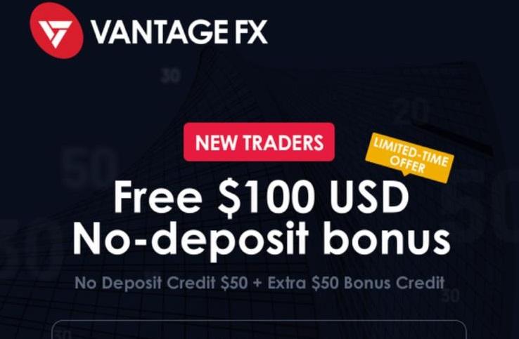 Vantage FX $50 Forex No Deposit Bonus + Extra $50 Bonus Credit