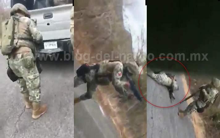 """Video: """"Otra Granada wey!, Hay que abrirnos de aqui! Vamonos!"""" Así fue la emboscada de Sicarios grabada por un MARINO en Chinicuila; Michoacán"""