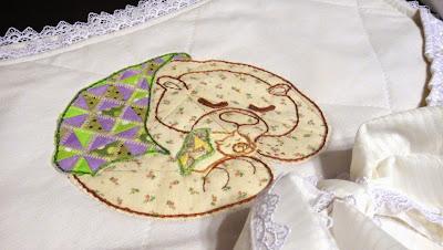 Карман на кроватку с мишками - подарок новорожденному, подарок грудничку