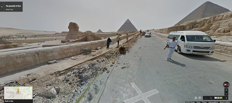 New images added to Google Street View include 360-degree views of Egypt
