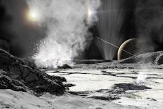 Saturno palydova Enceladą dengia storas ledo sluoksnis, bet pro jį veržiasi geizeriai