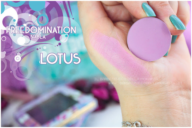 lotus swatches nabla cosmetics freedomination collection summer eyeshadow