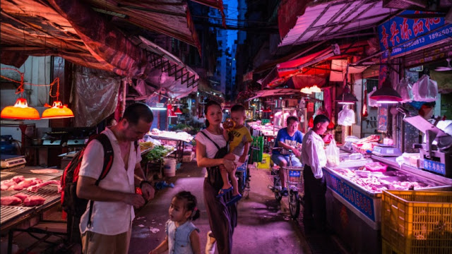 Pasar Makanan Laut Wuhan China