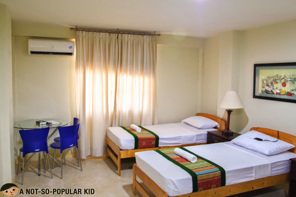 One of the double rooms of Metro Vigan Inn