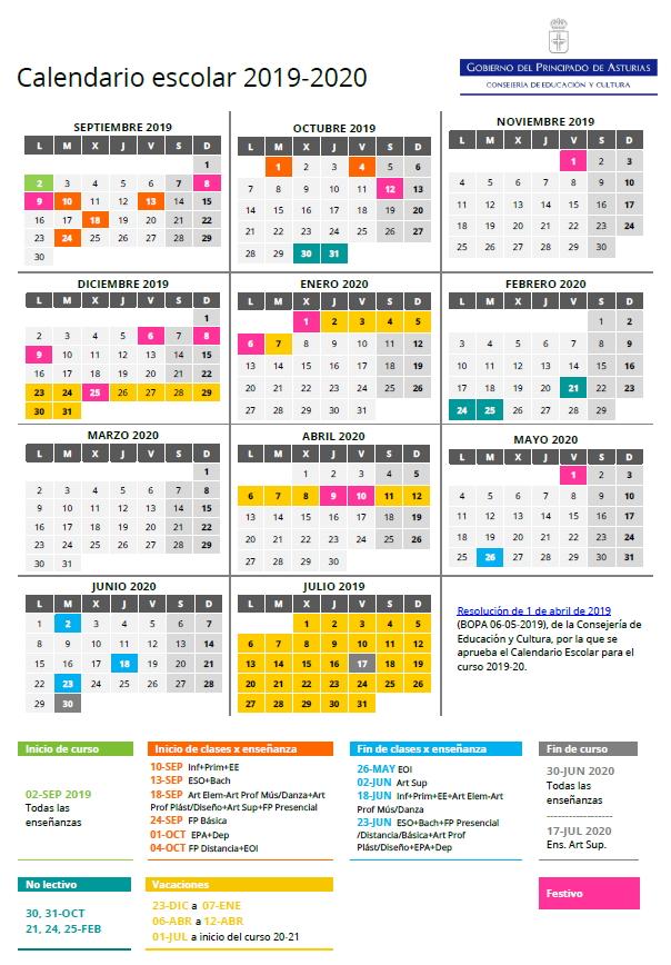 Calendario Escolar Asturias 2020 2019.Que He Hecho Yo Para Merecer E S O Calendario Escolar 2019 2020