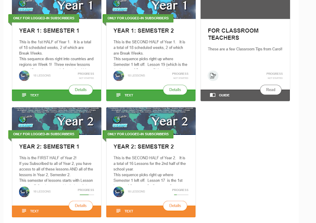 Let's Go Geography website access for Year 1 and Year 2 Semesters