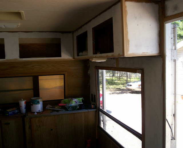 Removing Cabinets In A Travel Trailer