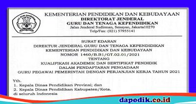 Daftar Kualifikasi Akademik Dan Sertifikat Pendidik Dalam Pendaftaran Guru PPPK (P3K)