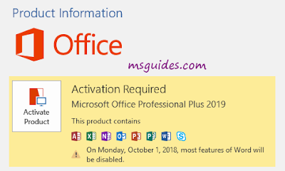 Download and Activate Microsoft Office 2019