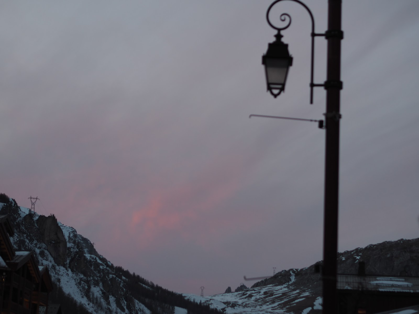 Sunset in the mountains, Val d'isere, France