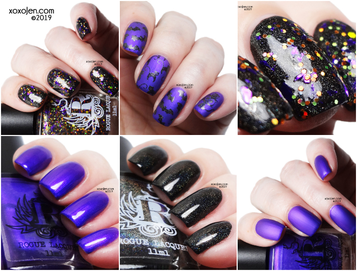 xoxoJen's swatch of Rogue Lacquer Halloween Trio