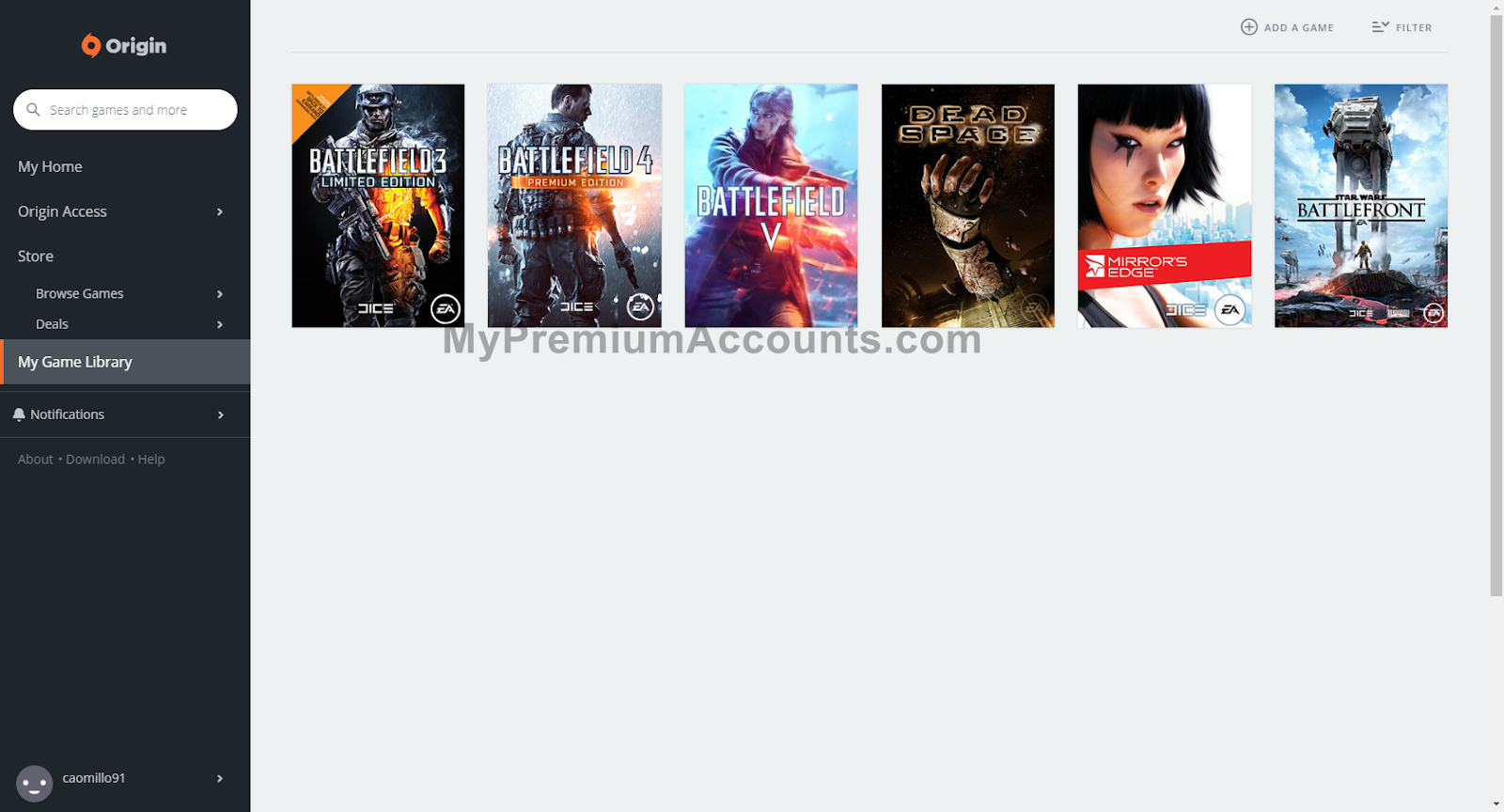 x120 Origin.com Premium Accounts with Games June 28, 2020