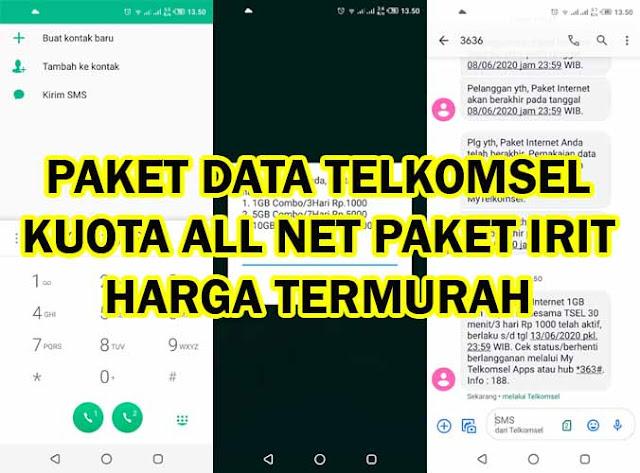 Paket Data Telkomsel Kuota All Net Combo Irit