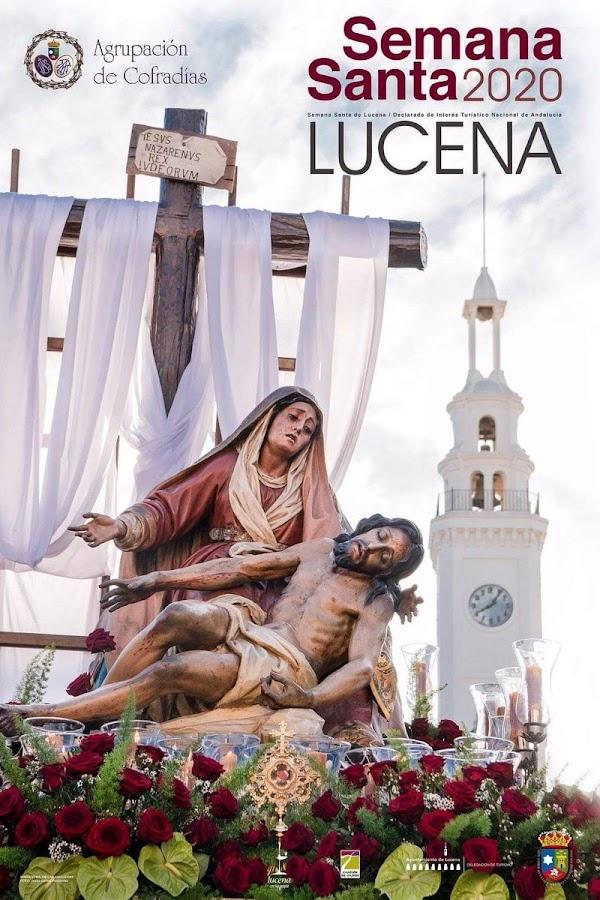 Cartel anunciador de la Semana Santa 2020 de Lucena 2020
