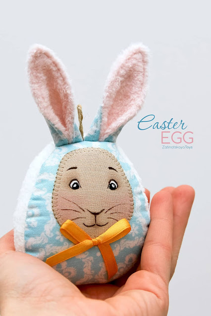 Easter egg with bunny ears DIY craft