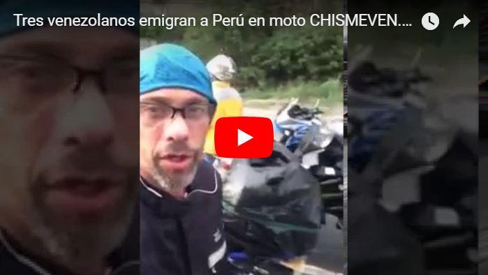 Tres venezolanos emigran a Perú en moto y nos lo demuestran