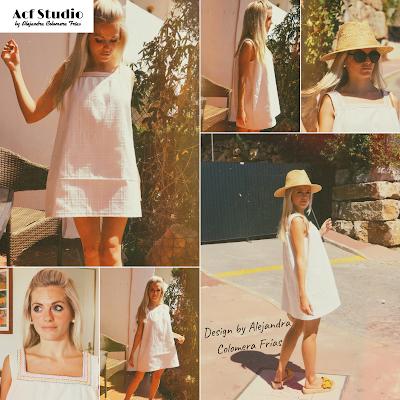 Modelo luciendo vestido Sol, diseñado por Acf Studio