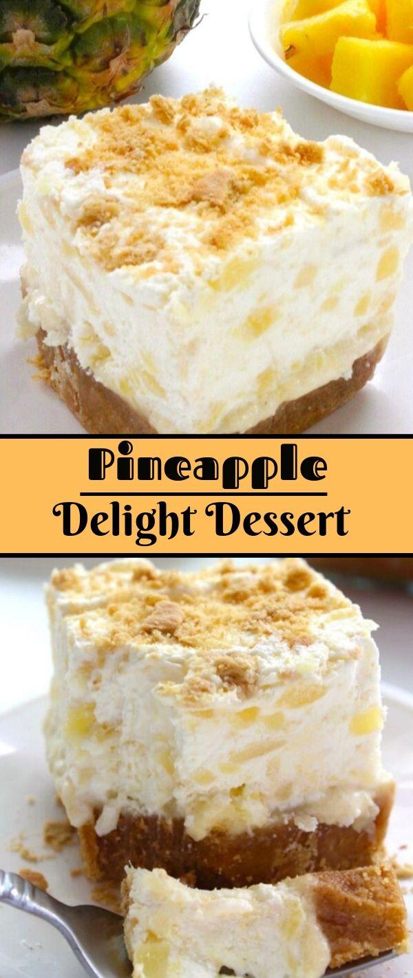 Pineapple Delight Dessert #Pineapple #Delight #Dessert Dessert Recipes Easy, Dessert Recipes Healthy, Dessert Recipes For A Crowd, Dessert Recipes Peach,