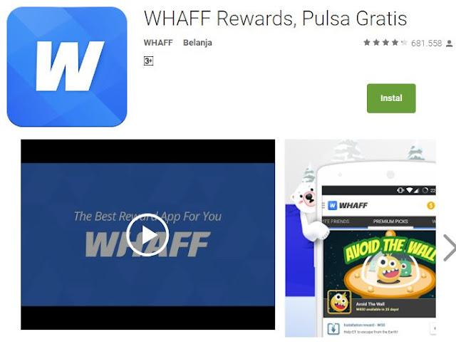 cara mendapatkan uang di whaff rewards