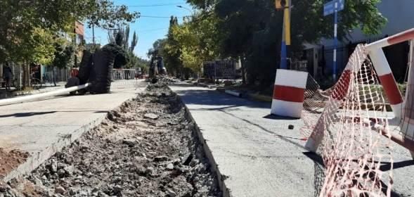 Terminó el recambio de la red cloacal en calle Mendoza